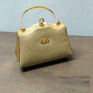 Rare!!! Golden tone mini bag